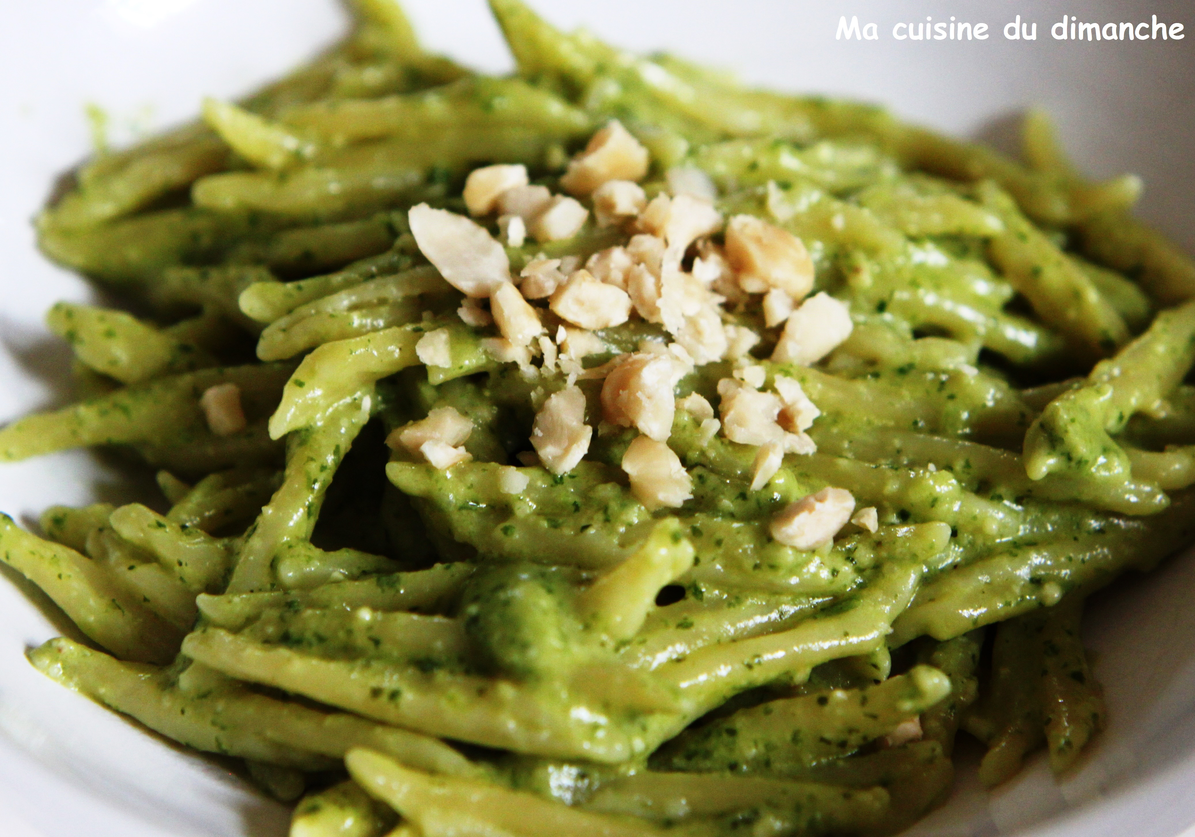 Pesto salade verte, noisettes  - Salade Pates Pesto