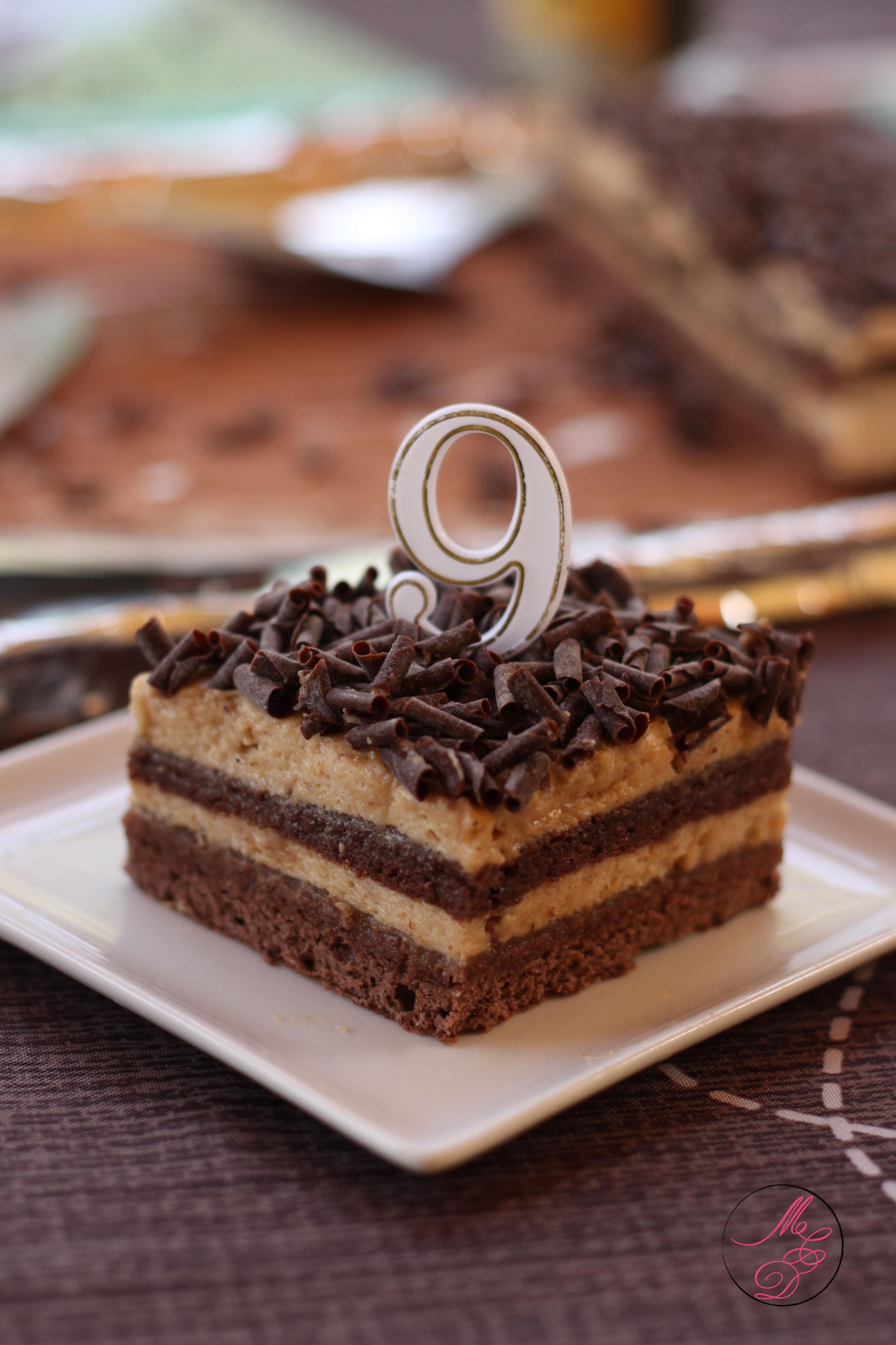 Gateau rectangulaire mousse chocolat